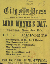 Advert for the City Press, newspaper